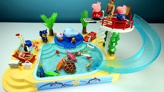 Playmobil Children's Pool Slide Whale Fountain Playset with Sea Animals - Fun Toys For Kids
