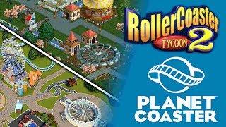 PLANET COASTER Vs. RollerCoaster Tycoon 2 - Welche Coaster gibt es?