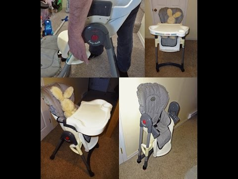 How To Use the Evenflo High Chair: Slide 'N Serve 3-Position 1-Hand Release