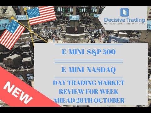 E-Mini S&P 500 and E-Mini NASDAQ Day Trading Market Review 28th October