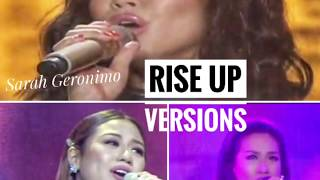 RISE UP  BY SARAH GERONIMO, RACHELLE ANNE GO AND MORISSETTE AMON