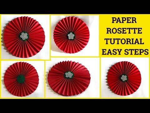 Paper Rosettes Tutorial By Sangitaa Rawat | Diwali Decoration Ideas At Home | Backdrop Ideas | Fan