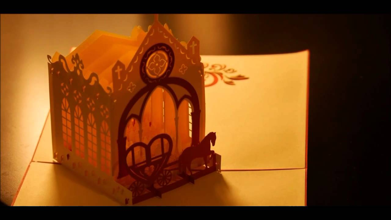 3d Pop Up Greeting Cards Wedding Youtube