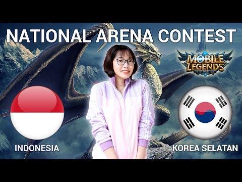 INDONESIA VS KOREA SELATAN - National Arena Contest Cast by Kimi Hime - 11/03/2018