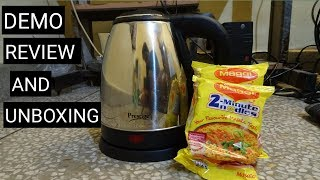 Prestige kettle demo,review,unboxing all in one video.