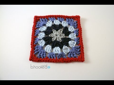 How To Crochet A Granny Square Circle In A Square Motif Youtube