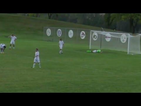 Soccer goalie scores ridiculous goal