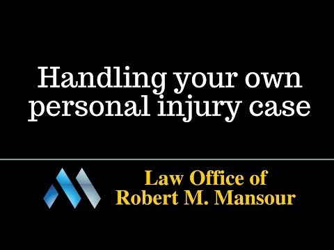 Santa Clarita accident lawyer - Handling your own personal injury case