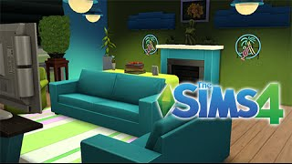 The Sims 4: Blue And Green Living Room (speed Build)