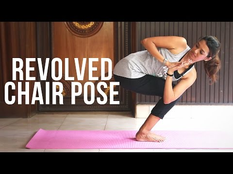 How to do Revolved Chair Pose