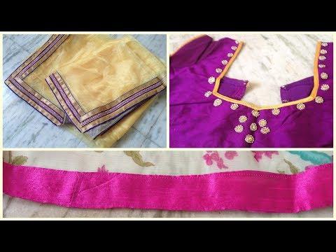 how to design your own saree   diy  designer saree   diy clothing   saree designing   blouse design