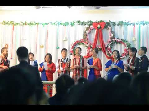 "Multicultural Christmas! ""Naga"" language from India, performed in Allahabad, UP"