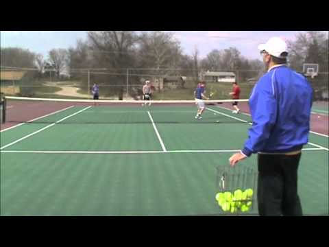 Tennis Drills, 3 Man Weave, Chariton High School