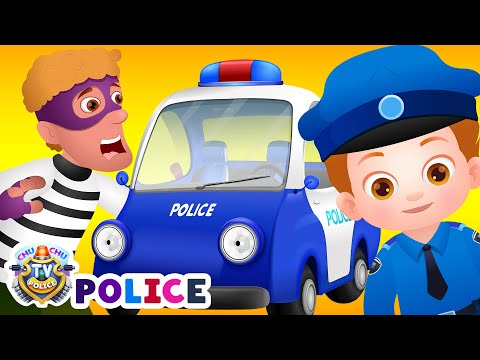 ChuChu TV Police Chase Thief in Police Car & Save Huge Surprise Egg Toys Gifts from Creepy Ghosts