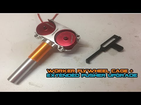 WORKER Stryfe Flywheel Kit + Extended Pusher Install+Chrony - Quincy Stryfe Upgrades #2