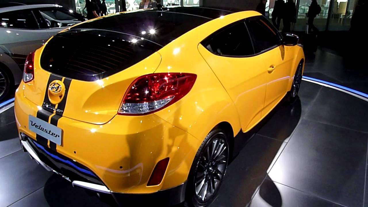 2012 Hyundai Veloster in yellow - YouTube