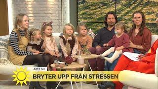 Sexbarnsfamiljen säljer hemmet och reser jorden runt - Nyhetsmorgon (TV4)