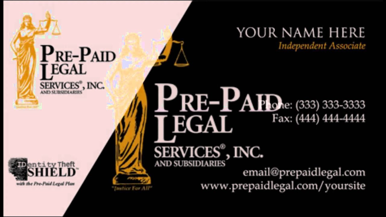 Legal Shield Business Cards - YouTube