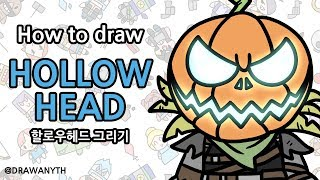 How to draw HOLLOW HEAD   fortnite
