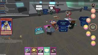 Lets duel 'dracflame, B0uncer101, and Dethwisher392' pt2 Yugioh Roblox EP:4