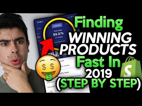 FASTEST Way To Find And Test Winning Products 2019   Shopify Dropshipping thumbnail