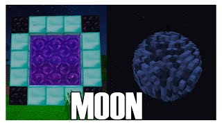 How to Make a Portal to the MOON in Minecraft (No Mods)(, 2016-02-19T20:30:00.000Z)