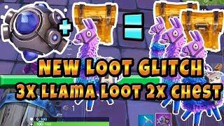 New Fortnite Loot Glitch 3X Llama loot 2x Chest Loot Using the New ShockWave Grenade!