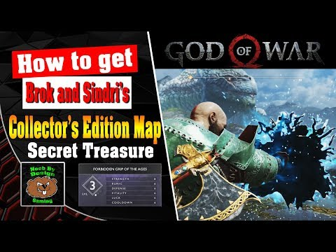 God of War - How to get the Secret Treasure from Collectors Edition Map