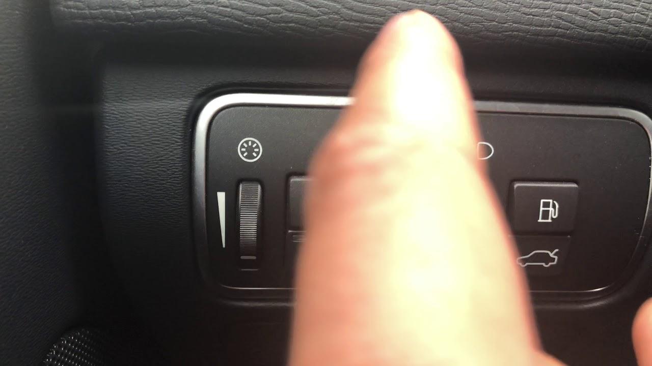 VOLVO XC60 XC70 XC90 - HEADLIGHTS CONTROLS- HOW TO TURN ON/OFF