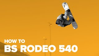 Как сделать бэксайд родео 540 на сноуборде (How to BS Rodeo 540 on a snowboard)