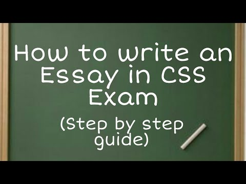 How To Write An Essay In CSS | CSS Essay Writing | Essay Writing CSS Part 1 Topic Selection