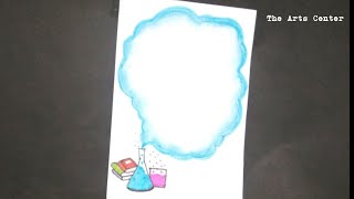 Chemistry border designs for School Project/Easy Border designs ideas on paper by The Arts Center