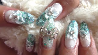 LITTLE MERMAID OVAL ACRYLIC NAILS Uñas acrílicas sirena| ABSOLUTE NAILS