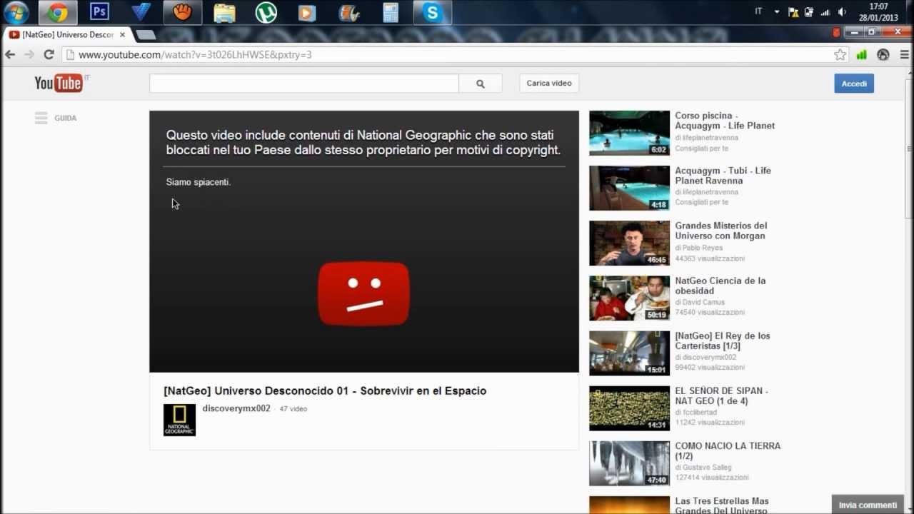 video rimossi da youtube