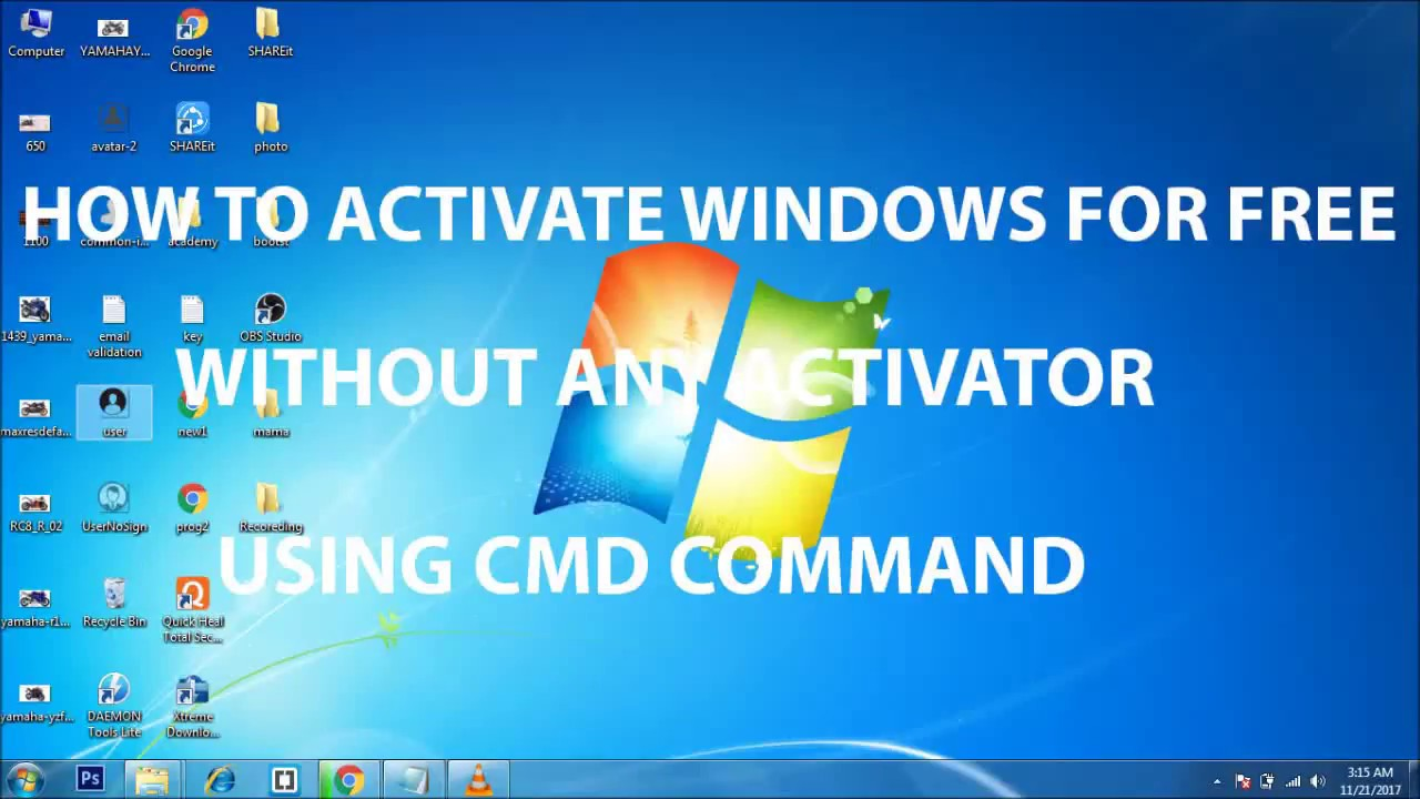 how to activate windows 7 for free cmd
