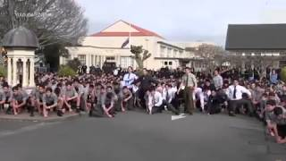 incredible moment an entire school of boys break into emotional haka at the funeral of beloved teac