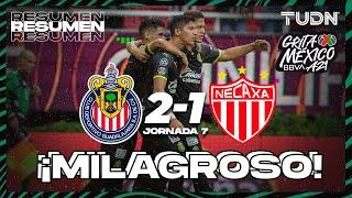 Resumen y goles   Chivas 2-1 Necaxa   Grita México BBVA AP2021 - J7   TUDN