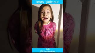 Jade dah jadi kakak