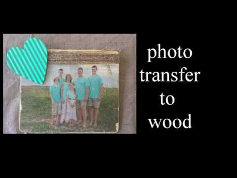 DIY Photo transfer to wood with Mod Podge