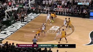 First Half Highlights: Louisiana Monroe at Michigan State | Big Ten Basketball
