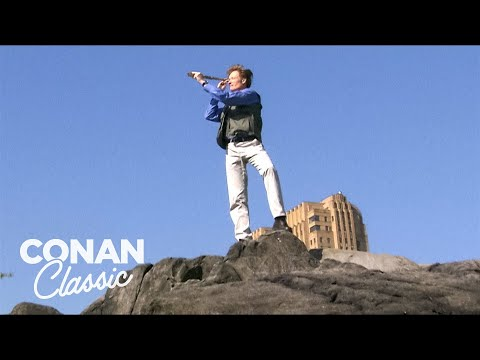 Conan Goes Birdwatching In Central Park -