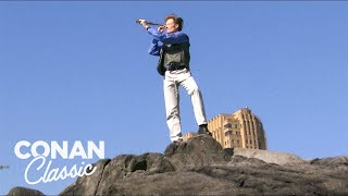 "Conan Goes Birdwatching In Central Park - ""Late Night With Conan O'Brien"""
