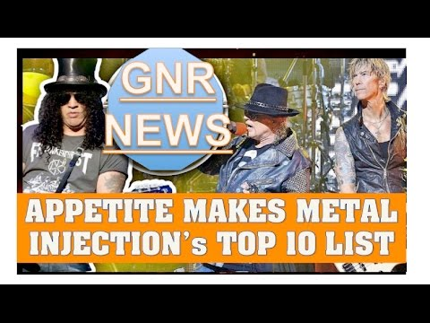 Guns N' Roses: Appetite For Destruction Ranked #2 Best Debut Album By Metal Injection