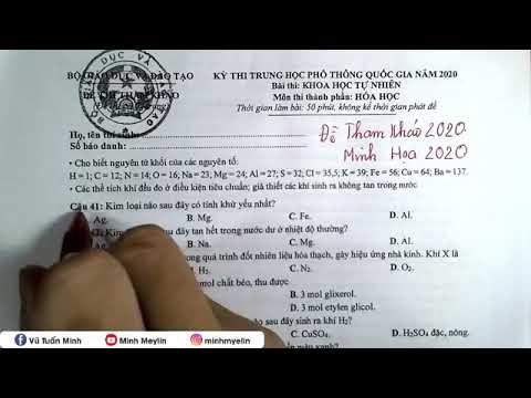 LẤY TRỌN 8+ ĐỀ MINH HỌA THPTQG 2020