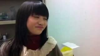 2011年11月25日 楽屋にて 東京女子流 中江友梨 新井ひとみ.