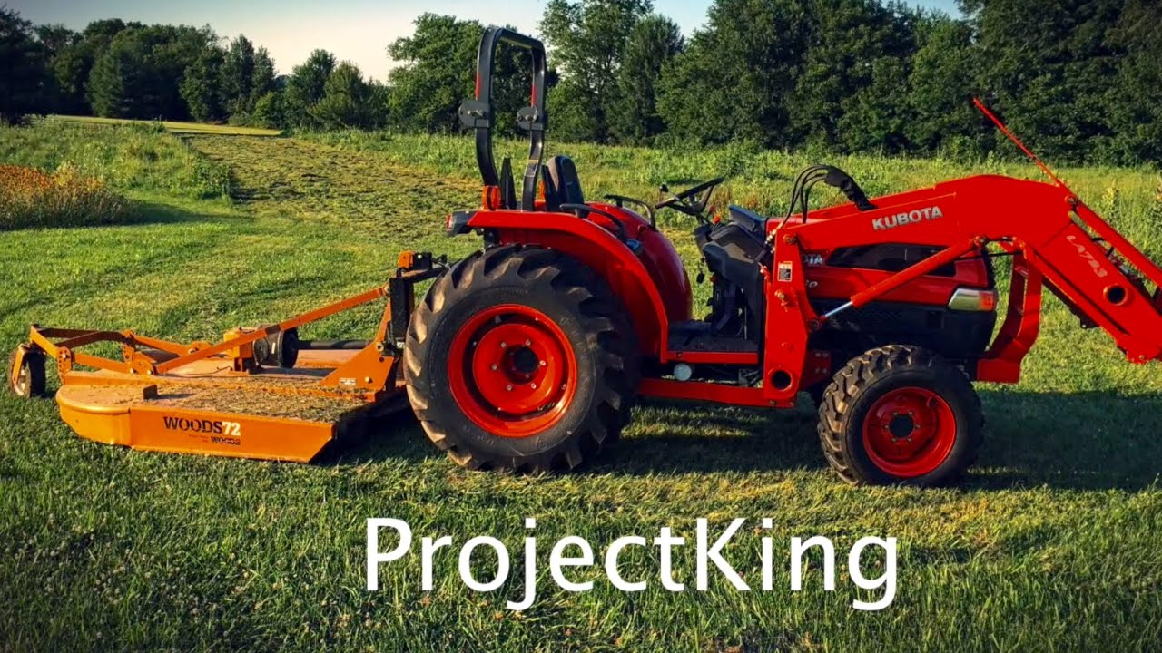 Tractor Mounted Bush Hog! Rotary Mower Cuts Grass and Weed