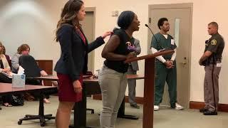Mother of 2-year-old girl speaks at sentencing of murderer