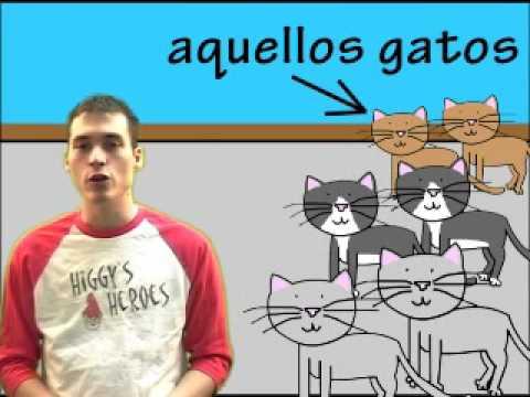 02 Spanish Lesson - Demonstrative adjectives (part 2)