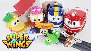 슈퍼윙스 봉반장 미나 주주 다알지 할아버지 미니 장난감 로봇 비행기 변신 | CarrieAndToys