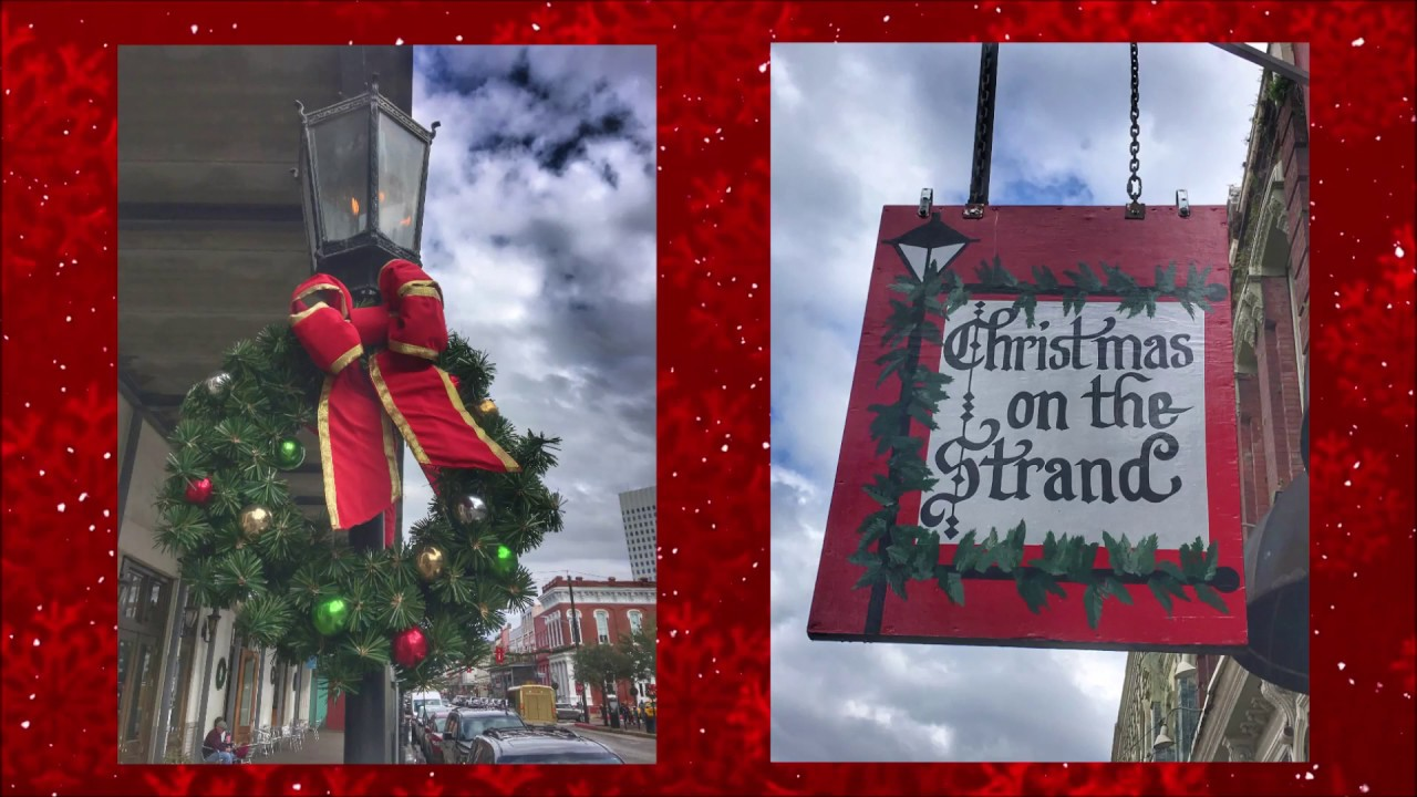The Strand at Christmas Galveston Texas